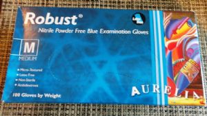 Blue Disposable Powder Free Nitrle Gloves X 100 Size XL